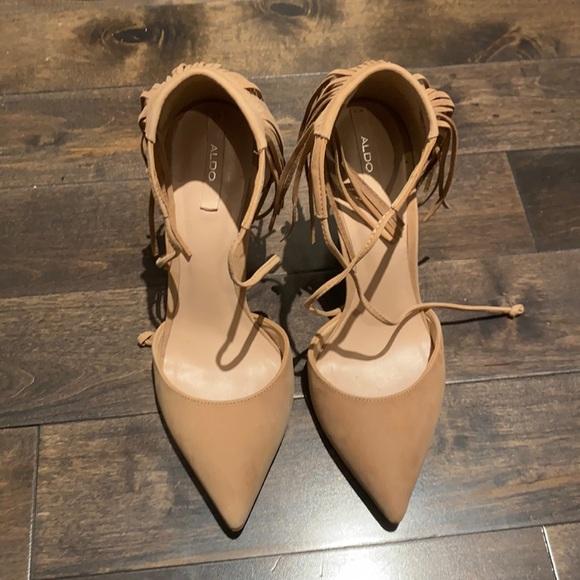ALDO Tan Leather Stilettos 7.5